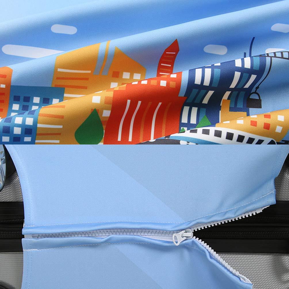 YiiJee Antigraffio Cover Proteggi Valigia Elasticizzata Copertura Stampato Protettore per Valigie di Dimensioni Anti-Polvere