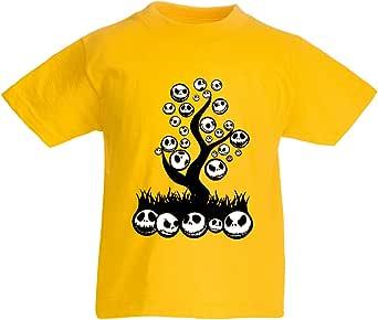 lepni.me Camiseta para Niño/Niña La Pesadilla, árbol Aterrador. Traje de Fiesta de Terror