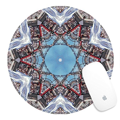 Luxlady Round Gaming Mousepad Abstract six final star with patterns Illustration IMAGE ID 2824797