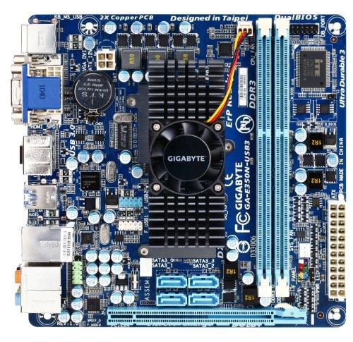 GIGABYTE GA-E350N-USB3 AMD E-350 APU (1.6GHz, Dual-Core) AMD Hudson-M1 FCH Mini ITX Motherboard/CPU Combo