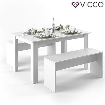 VICCO Tischgruppe Weiß 140 X 90 Cm   4 Bis 6 Personen   Esszimmer Esstisch  Küche