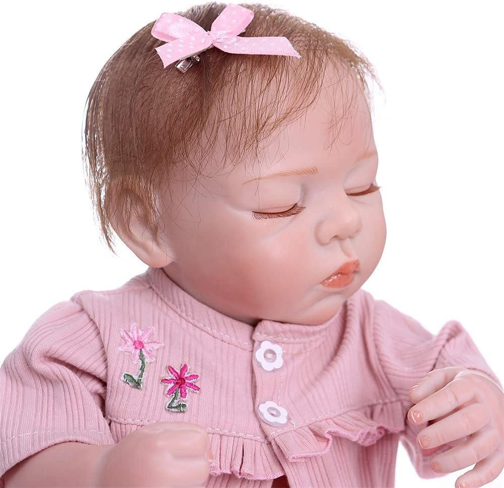 Zero Pam Anatomically Correct Baby Dolls 18 Inch Reborn Baby Dolls Girls 45CM Newborn Dolls That Looks Real Silicone Sleeping Baby