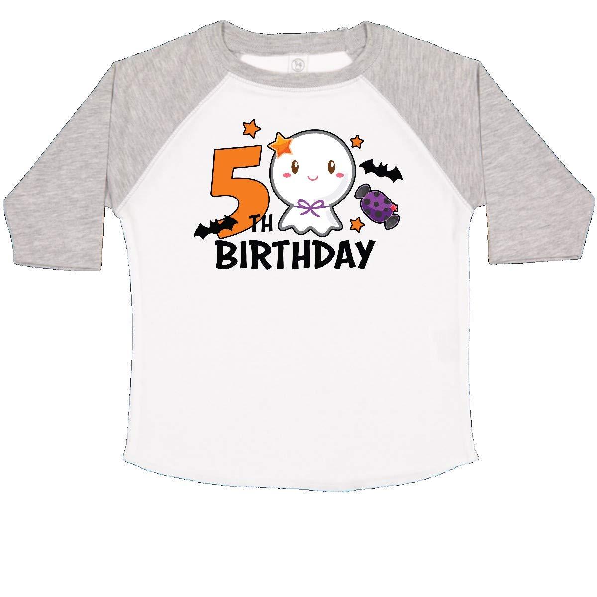 inktastic Cute Ghost 5th Birthday Toddler T-Shirt