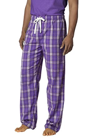 Purple Plaid Pajama Pants at Amazon Men's Clothing store:
