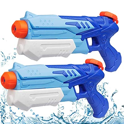 MeiGuiSha 2 Pack Super Soaker Water Gun Blaster High Capacity Water Soaker Blaster Squirt Toy Swimming Pool Beach Party Favors Sand Water Fighting Toy for Kids: Toys & Games