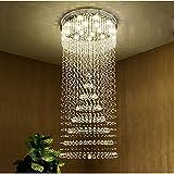YOUZHENGJIA D31.5'' X H70.8'' Modern Luxurious Rain Drop Crystal Chandelier Ceiling Fixture