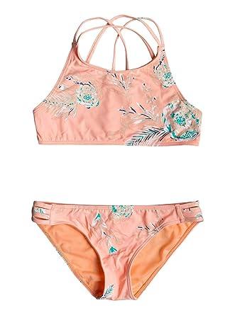 4f0ec400c1 Roxy Darling Girl - Ensemble de Bikini Crop-Top pour Fille 8-16 Ans  ERGX203191: Roxy: Amazon.fr: Vêtements et accessoires
