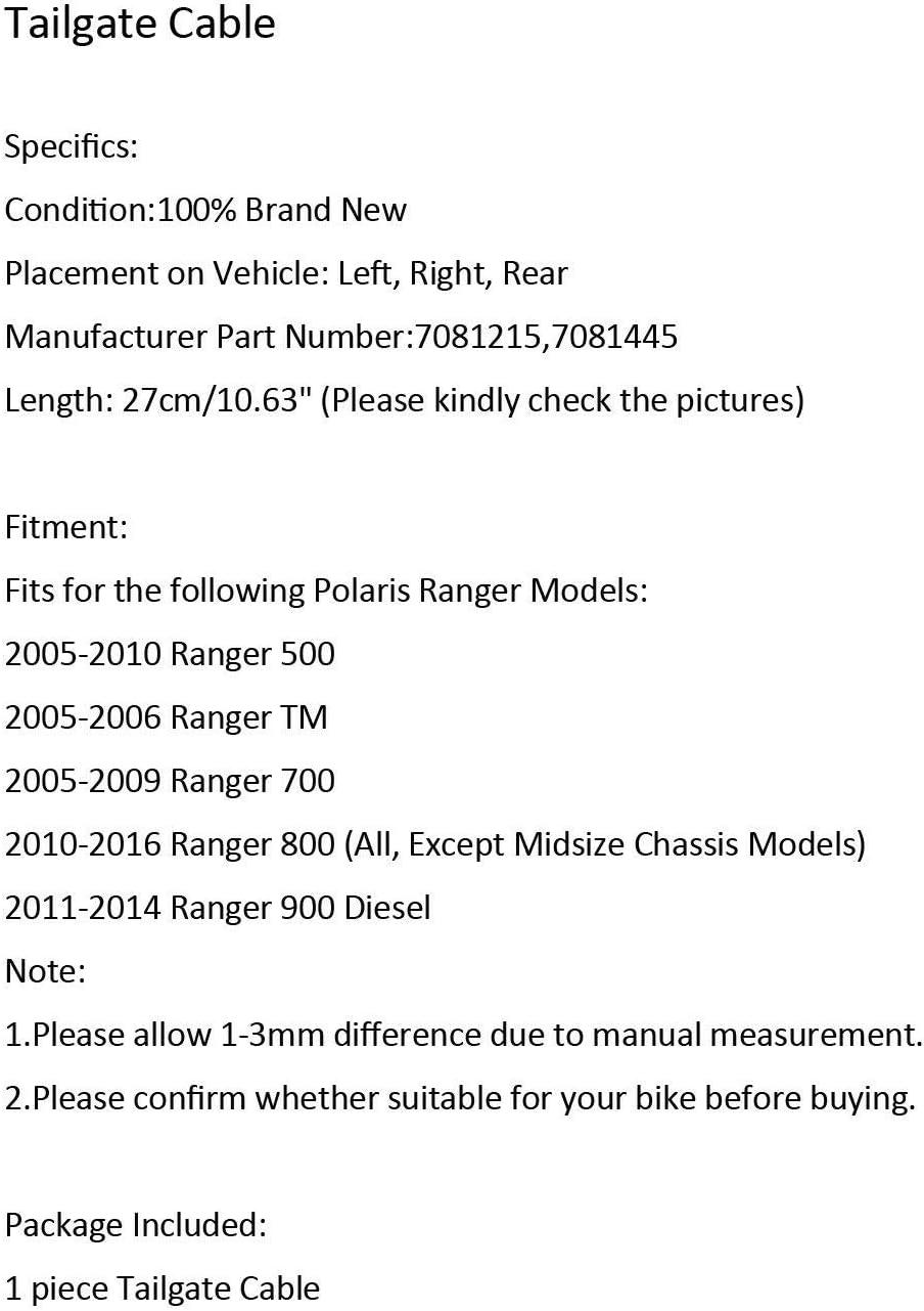 DUDUBUY 2 pcs Tailgate Cables Tail Gate fit for Polaris Ranger 500 ...