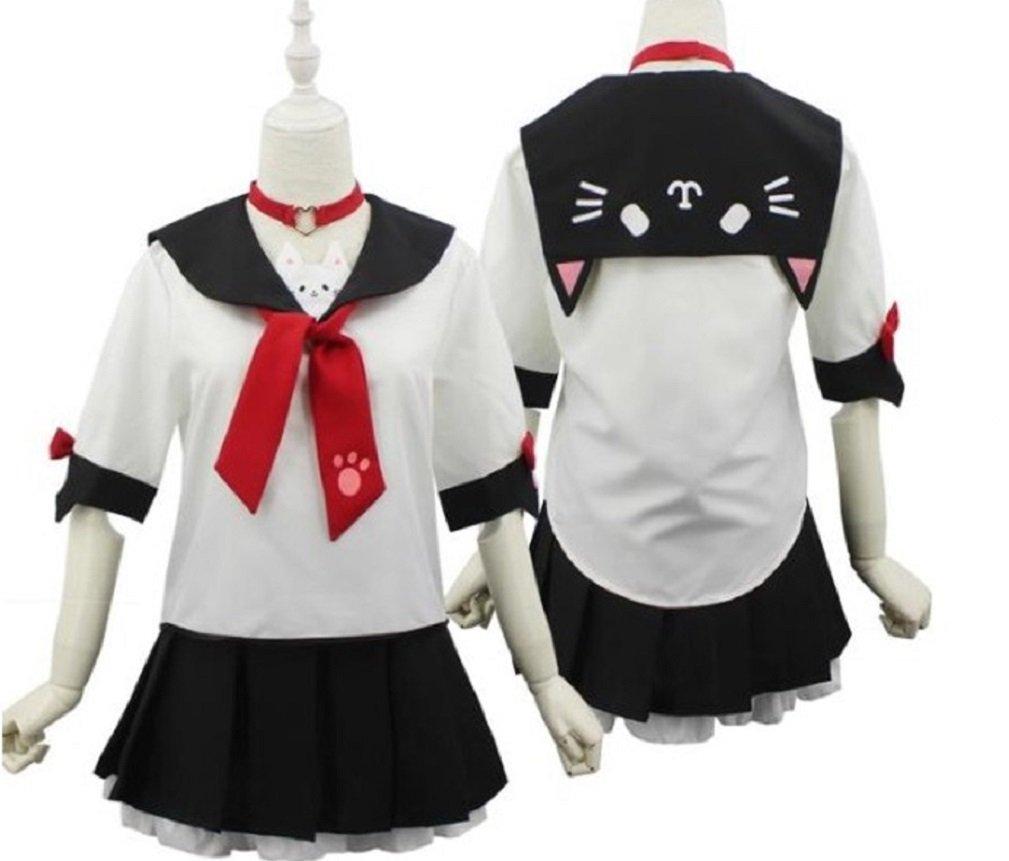 SSJ Japanese Sailor Uniform JK Cute Cat Girls High Neko Atume Style Costume White by SSJ (Image #7)