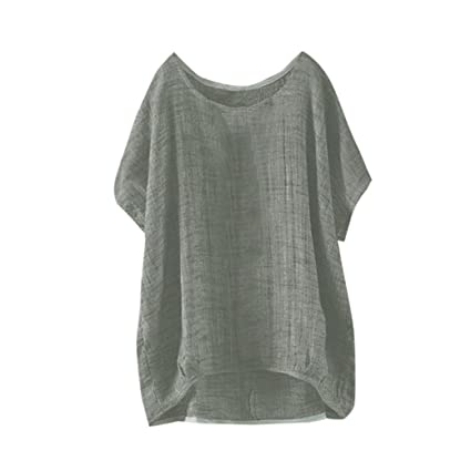 035f2a0bf CUCUHAM Womens Bat Short Sleeve Casual Loose Top Thin Section Blouse T-Shirt  Pullover(
