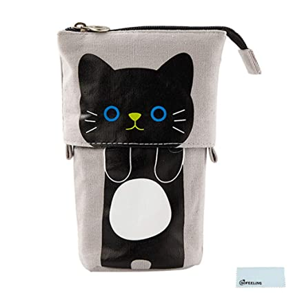 90ee63707f0a Amazon.com : SOFEELING Portable Foldable Pencil Bags Cartoon Pens ...
