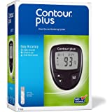 ContourPlus Blood Glucose Monitoring System Glucometer with 25 Free Strips(Multicolour)