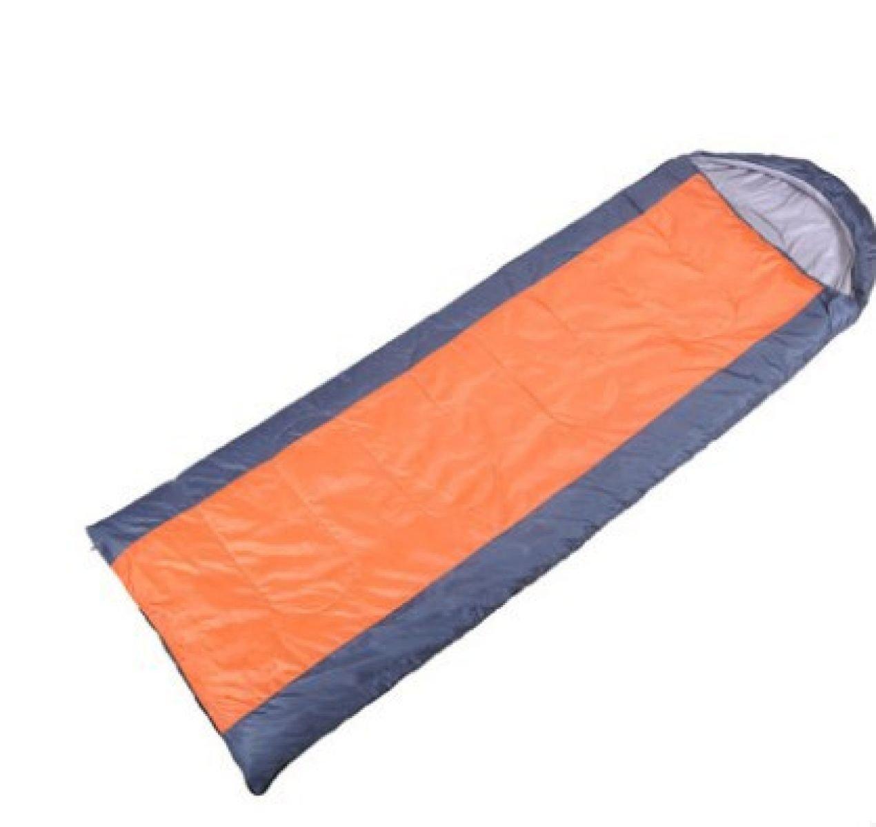 S Sobre Con Gorra Saco De Dormir De Algodón Camping Al Aire Libre Senderismo Saco De Dormir Multifuncional (azul Y Naranja),Orange-190*75cm: Amazon.es: ...