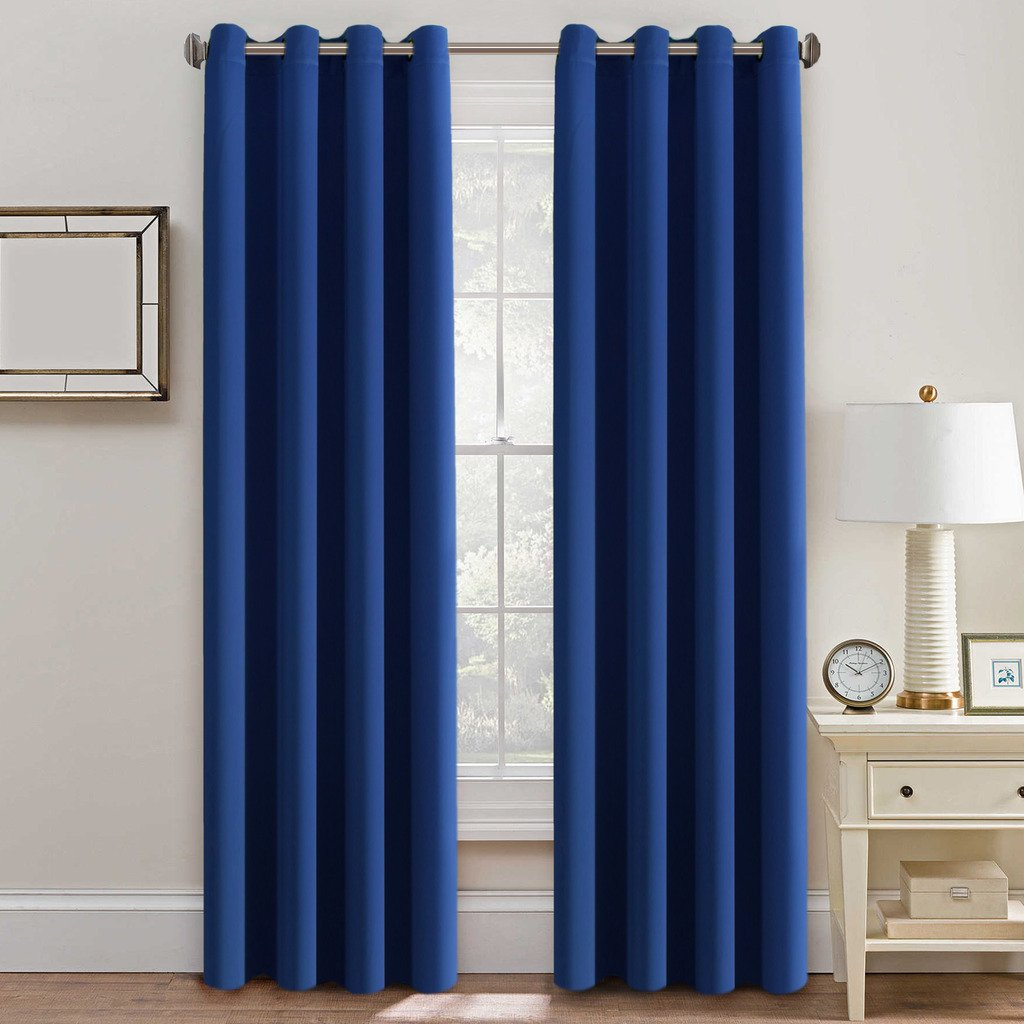H.Versailtex Thermal Insulated Blackout Window Treatment Curtains / Drapes - Formaldehyde-free , Grommet Top,52 by 96 - Inch - Royal Blue