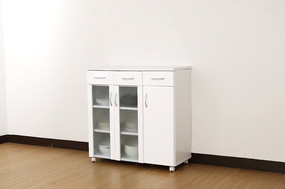 食器棚 NEW MIRANO kitchen series キッチンワゴン 90W 鏡面仕上げ B003UEX8ZM Parent