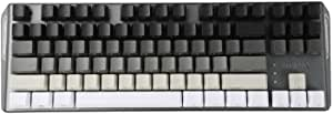 YMDK White Gray Black Mixed 87 Side Print Blank Keyset Thick PBT OEM Profile Keycaps for MX TKL Mechanical Keyboard (Only Keycap) (87 Side Print)