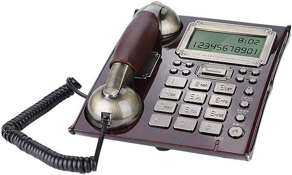 Teléfono Fijo de Pared Retro de Estilo Europeo, Teléfonos con Cable Antiguos del Vintage para Hogar,Oficina,Hotel(B): Amazon.es: Electrónica