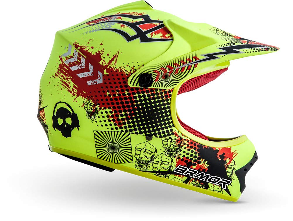 "59-60cm /· Kids-Cross Helmet /· Child Motorcycle MX Moto-Cross-Helmet Enduro Off-Road /· DOT certified /· Click-n-Secure/™ Clip /· Carrier Bag /· XL Armor /· AKC-49 /""Blue/"" blue"