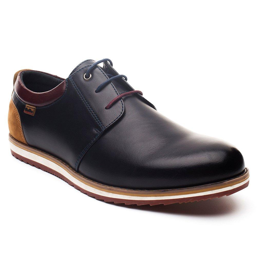 Zapatos Comodos Oxford de Cordones para Hombre - Zapatos Formal Derby Cuero de Imitación Hombre, Conveniente para Todas Las Estaciones SS001-BLUE-43: ...