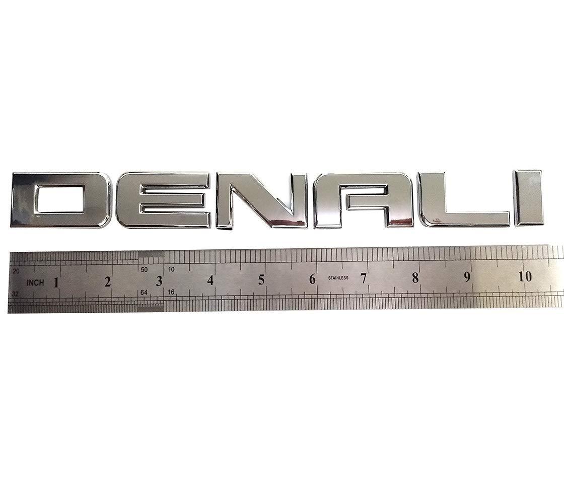 Yuauto 1x Glossy Denali Nameplate Emblems Hd Badge Replacement for Gm 07-16 Yukon Sierra Terrain Glossy black)