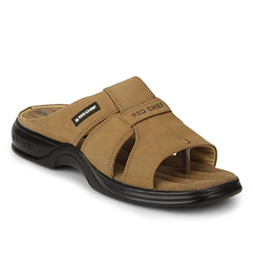 7bc2cc0fb Redchief Men's Leather Slippers: Buy Online at Low Prices in India -  Amazon.in