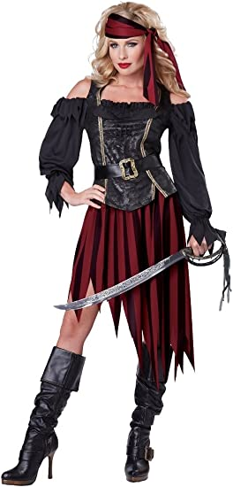 Pirate Queen Adult Womens Female Costume Dress Size S Small M Medium NEW