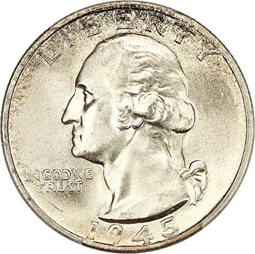 1945 S Washington Quarters (1932-98) Quarter MS66 PCGS