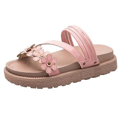 8c578e3c6 Challen Flat Sandals with Floral, Ladies Anti Skidding Sandals, Causel Shoes  for Women, Soft Flip Flops, Thongs: Amazon.co.uk: Shoes & Bags
