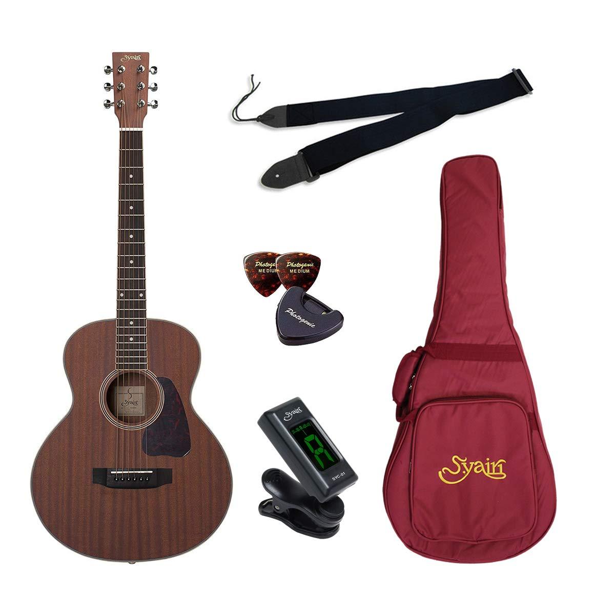 S.Yairi ヤイリ ミニギター Amazonオリジナル7点 クイックスタートセット YM-03/MH  マホガニー B07Q6QGBJM
