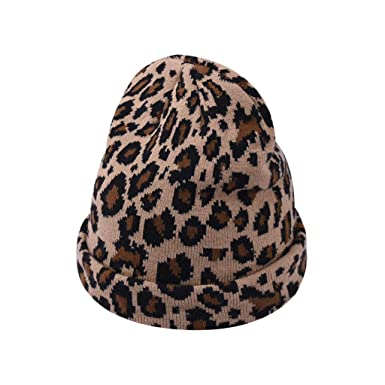 aed5cb6d6378b Image Unavailable. Image not available for. Color  Yearkala Black Friday Beanie  Hat Leopard Women Cap Spring Autumn Winter Ladies  ...