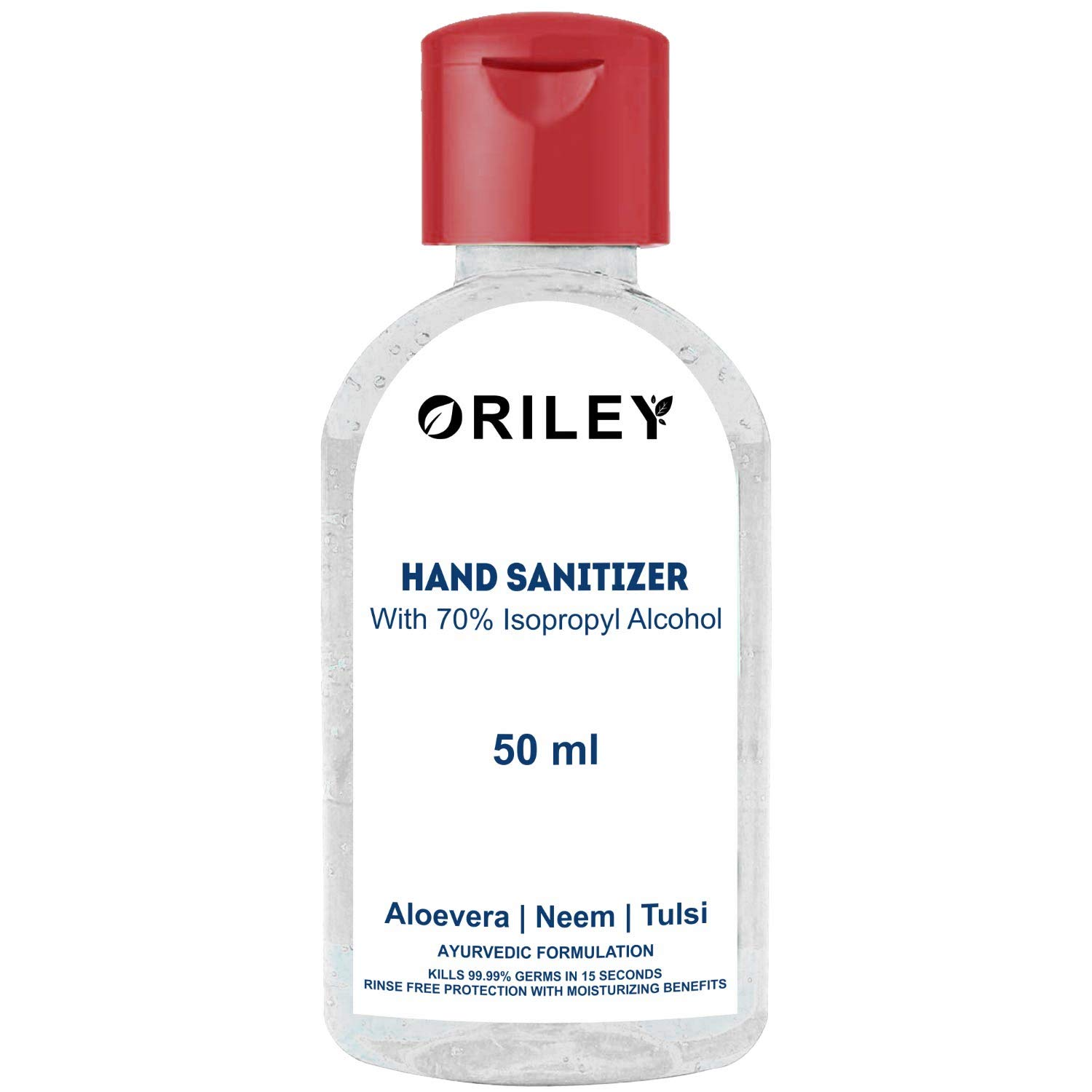 Oriley Waterless Advanced Hand Sanitizer Alcohol-Based Instant Germ Protection - 50ml