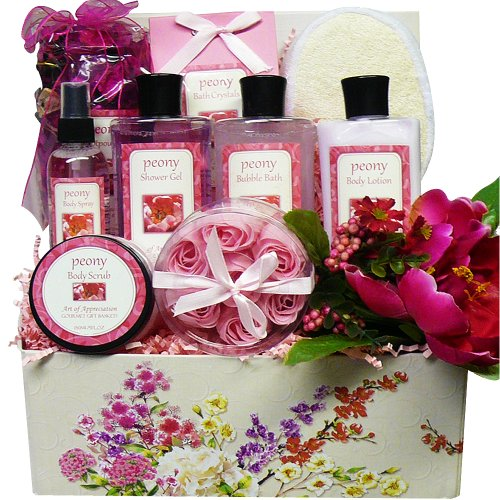 - Art of Appreciation Gift Baskets Peony Pleasures Spa Bath and Body Care Package Set