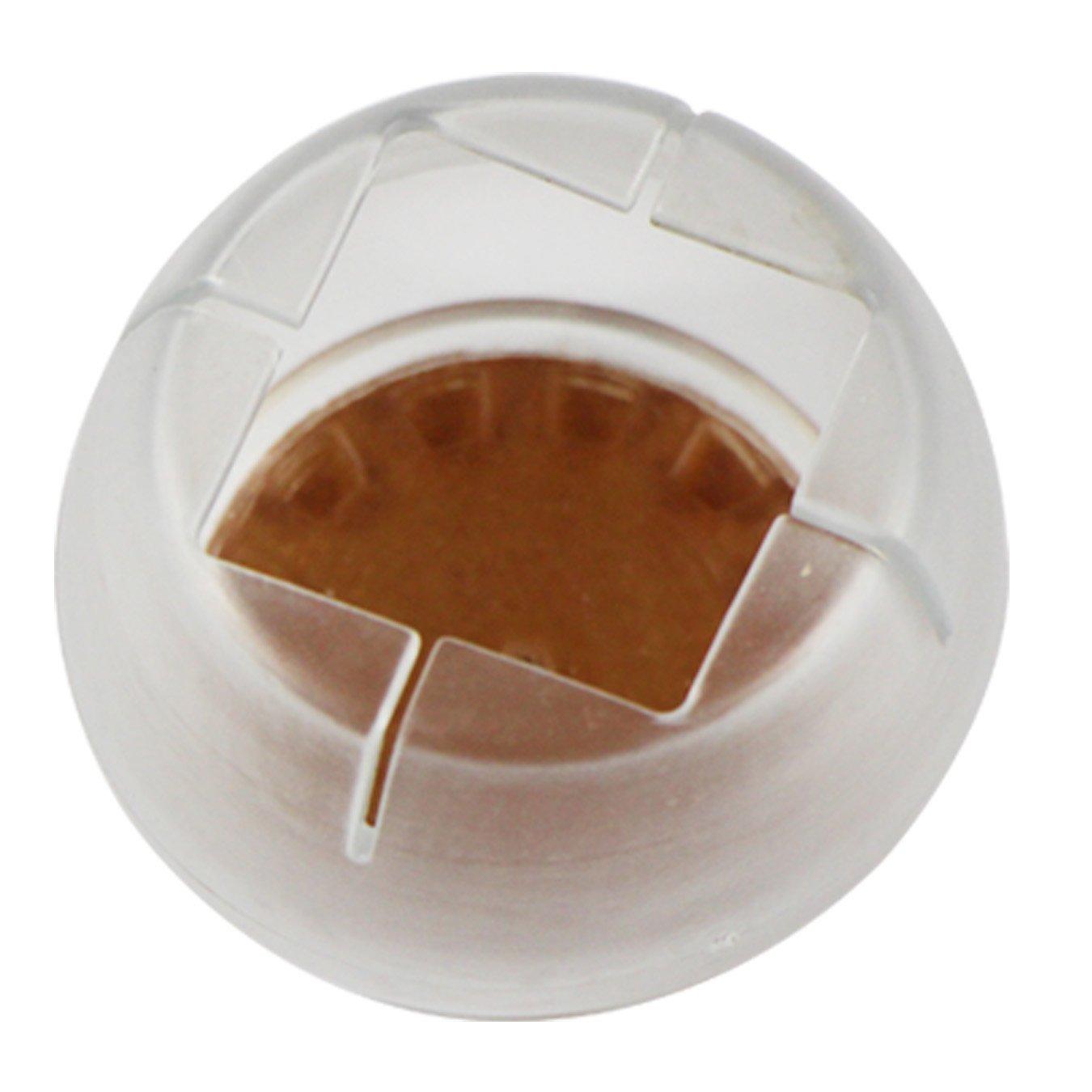 con Fondo Rotondo e Apertura Quadrata Uooom Set di 8 Cappucci Rotondi in Silicone per Proteggere il Pavimento Coperture per le Gambe delle Sedie 1216-14#