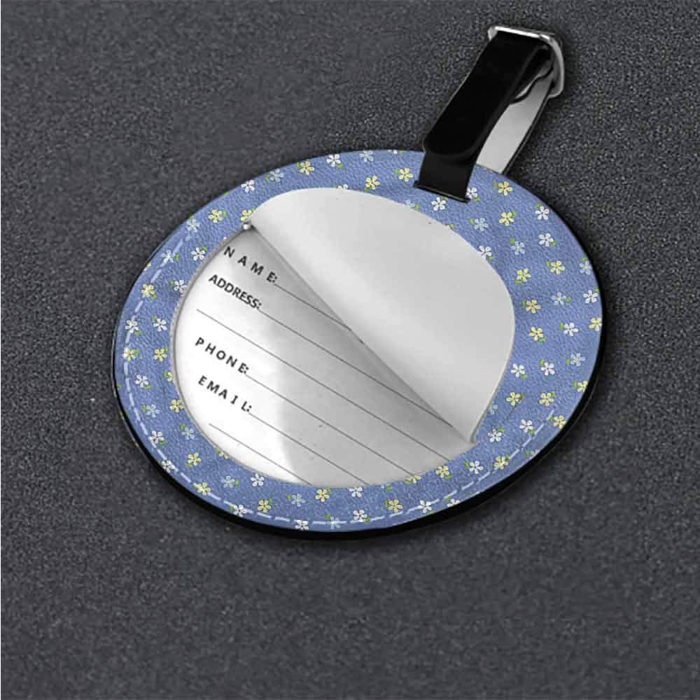 Tags Portable Label Floral,Small Spring Daisies Address Tags