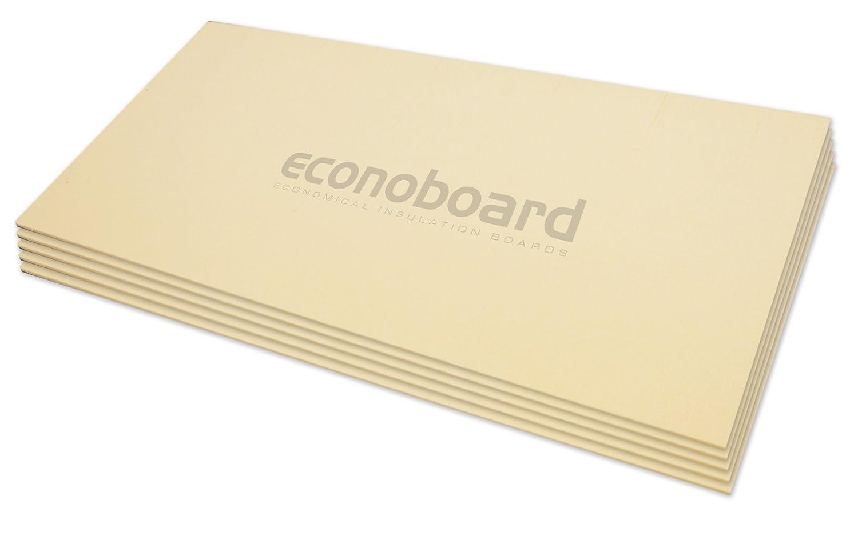 Econoboard 6112 Electronic Underfloor Heating Insulation Board - Coated, Energy Efficient, Grey, 12 mm, Set of 6 Piece Thermogroup UK