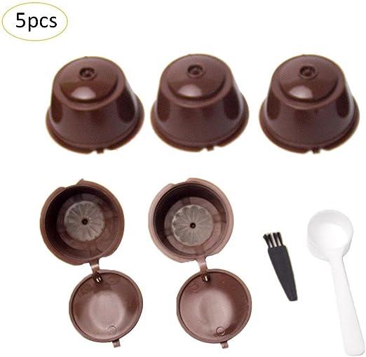 5 Piezas Cápsulas Filtros de Café con Cuchara y Cepillo Filtros de ...