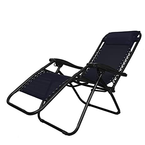 PARTYSAVING Infinity Zero Gravity Outdoor Lounge Patio Pool Folding Reclining Chair APL1059 Black  sc 1 st  Amazon.com : zero gravity garden recliner - islam-shia.org