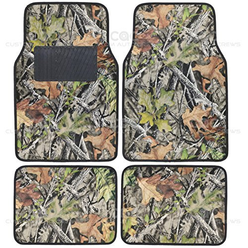 - Camo Mats for Car SUV Truck - 4 PC Car Floor Mat Camouflage Rubber Backing Oak