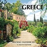 Greece Mini Wall Calendar 2017: 16 Month Calendar