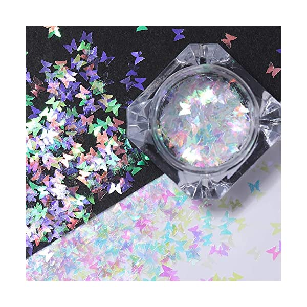 NICOLE DIARY 5 Boxes Holographic Nail Sequins Iridescent Flakes Colorful Glitter Manicure Nail Art Design Make Up DIY Decals Decoration 7