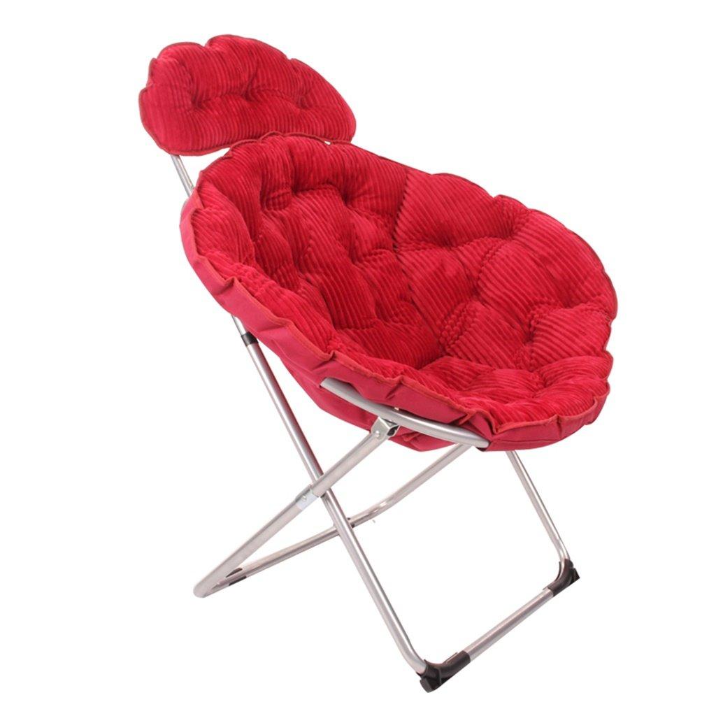 龙飞@ 大きな椅子サンシーズ怠惰な椅子リクライニングチェアラウンドチェアソファーチェア スツール ( 色 : ワインレッド ) B077SLNQ36 ワインレッド ワインレッド