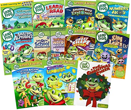 Leapfrog 15-DVD Mega Pack - Learn to Read at the Storybook Factory/ Amazing Word Explorers/ Numberland/ Phonic Farm/ Numbers Ahoy/ Amazing Alphabet Amusement Park/ Let's go to School/ Talking Words ++ (Leapfrog Word Factory Dvd)