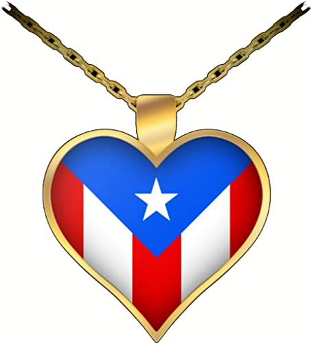 Heart shaped Pendant made from PUERTO RICO US  coin ring  with 24 in chain