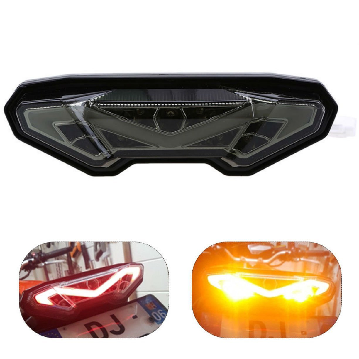 Amazon.com: MZS LED Tail Light Turn Signal Blinker Integrated for Yamaha  MT-09 FZ-09 2014-2016/ MT09 Tracer FJ-09 2015-2017/ MT-10 FZ-10 2016-2017  (Smoke): ...