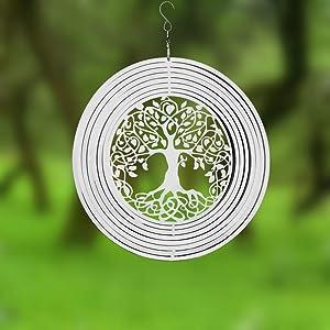 FENDISI Life Tree Wind Spinner- 3D Indoor Outdoor Garden Decoration Crafts Ornaments