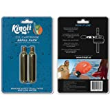 "Kingii 12g CO2 DISPOSABLE CARTRIDGE 3/8"" threaded with 24 threads per inch - 2-Pack"