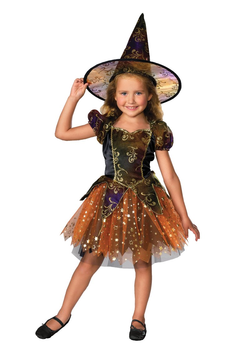 Amazon.com: Let's Pretend Child's Elegant Witch Costume, Toddler ...
