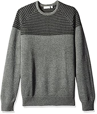 Calvin Klein Men's Mixed Guage Crew Neck Sweater
