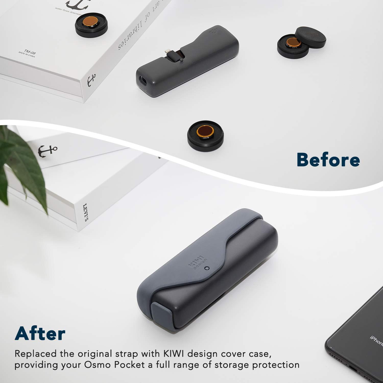 Gris Oscuro, Funda Original Osmo Pocket NO Incluido Cubierta de Silicona a Prueba de Polvo Compatible con Accesorios dji Osmo Pocket KIWI design Funda Protectora para dji Osmo Pocket