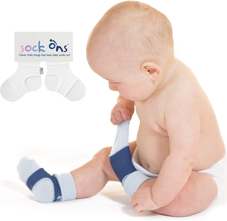 Baby-Sockenhalter Erstaunliches Vorteilspaket Sock Ons 3er Pack Baby-Socken immer anziehen!